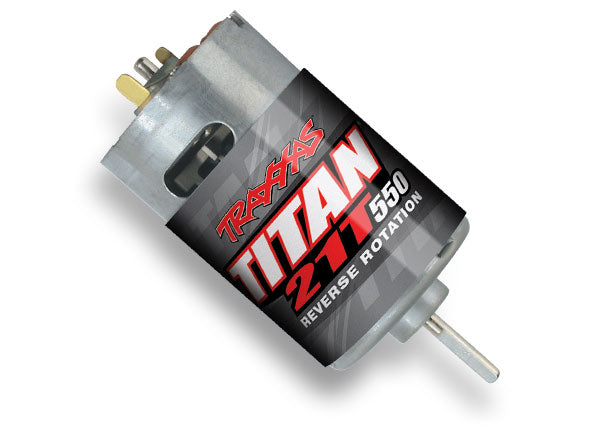 Motor, Titan 550, reverse rotation (21-turns/ 14 volts) (PART$ TRA3975R