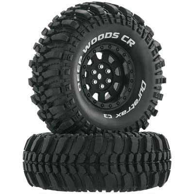 "DTXC4026 Deep Woods CR C3 Mntd 1.9"" Crawler Black (2)"