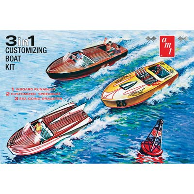 1/25 Customizing Boat 3-in-1 (PART# AMT1056)