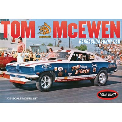 1/25 1969 Barracuda Funny Car, Tom Mongoose McEwen (PART# PLL953)