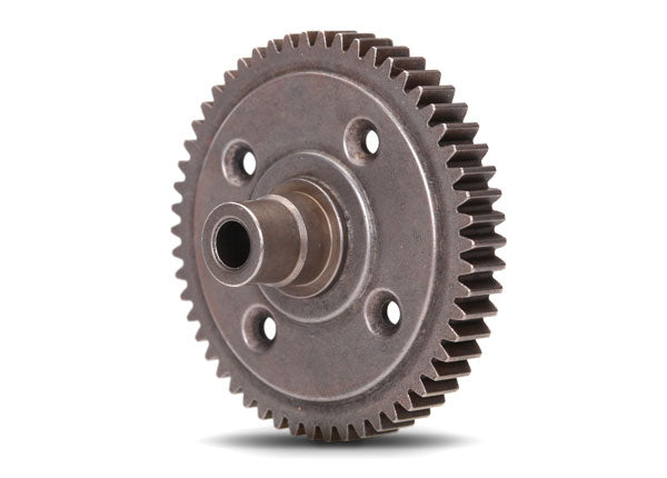 TRA3956X Spur gear, steel, 54-tooth (0.8 metric pitch, compatible with 32-pitch) (requires #6780 center differential)