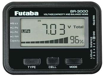 BR3000 FUTABA BATTERY CHECKER (Part # FUTM4166)