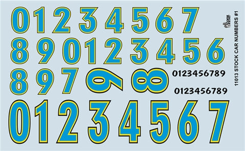 1/24-1/25 Stock Car Numbers #1 (Blue) (PART# GOF-11013)
