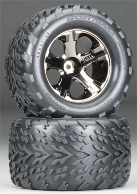 All-Star Blk Chrm Whls Talon Tires (Part# TRA3669A)