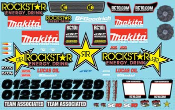 Decal Sheet Rockstar-Makita SC10 '09 (PART# ASC9863)