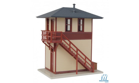 Walters #908-810 Trackside Signal Tower -- Assembled - 2-7/8 x 2-3/16 x 3-1/42 7.3 x 5.5 x 8.2cm