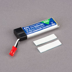 1S 3.7V 500 MAH 25C BATTERY (Part # EFLB5001S25)