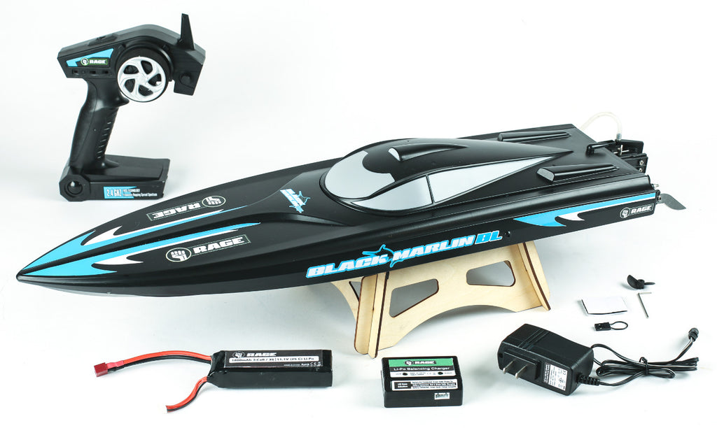 RGRB1205 Rage RC Black Marlin Brushless RTR Boat