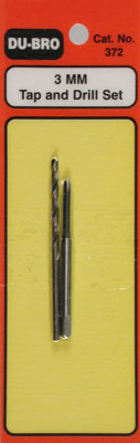 3MM TAP AND DRILL SET (Part # DUB372)