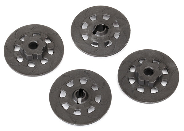 TRA8569 Wheel hubs, hex (disc brake rotors) (4)