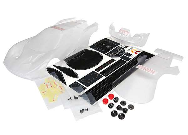 "TRA8311 Body, Ford GT"" (clear, requires painting)/ decal sheet (includes tail lights, exhaust tips, & mounting hardware)"