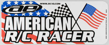 ASSOC R/C RACER BUMPER STICKER (Part # ASCC3816)