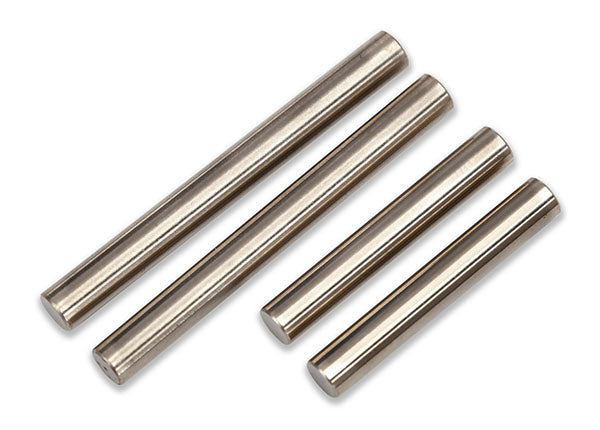 TRA7742 Suspension pin set, shock mount (front or rear, hardened steel), 4x25mm (2), 4x38mm (2)