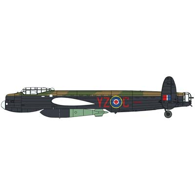 02177 1/72 Lancaster B Mk.I No.617 Special Mission (Part # HSGS2177)
