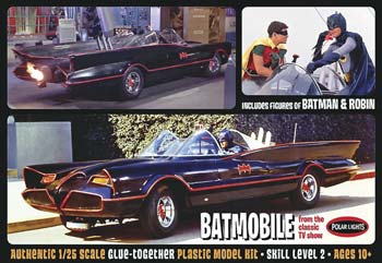 1/25 1966 Batmobile w/Batman/Robin Figures (PART# PLLS0920)