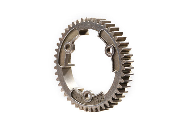TRA6447R Spur gear, 46-tooth, steel (wide-face, 1.0 metric pitch)