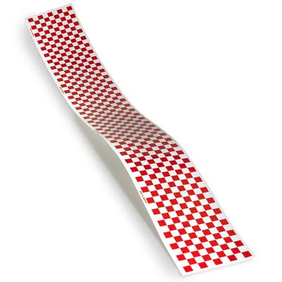 CHECK TRIM MONOKOTE RED/WHITE (Part # TOPQ4111)