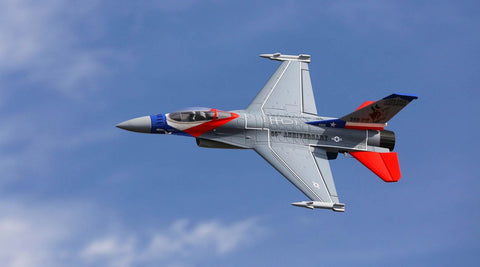 EFL9850 F-16 64mm EDF BNF w/AS3X Safe