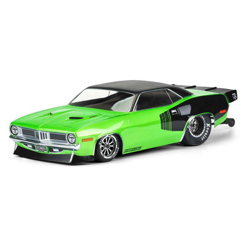 PRO355000 1972 Plymouth Barracuda Clear Body Slash 2wd Drag