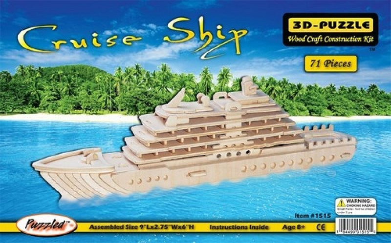 3D PUZZLE CRUISE SHIP (Part # WSK1515)