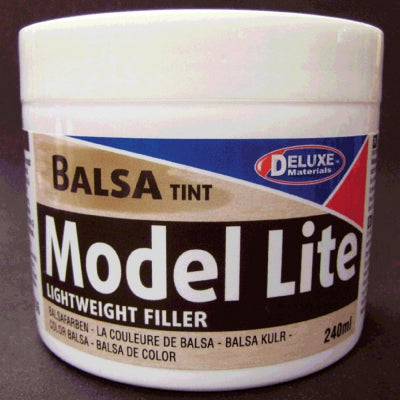 DLMD6 Model Lite Balsa Filler, Balsa Brown: 240cc