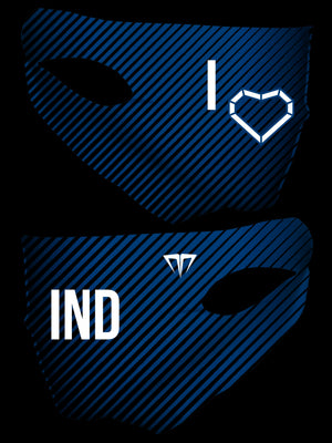 MG I Love IND Double Layer Face Cover