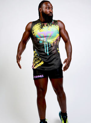 MG God Vibes 90's Splatter Short Outfit