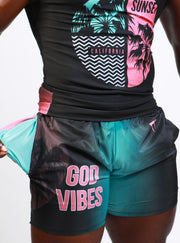 MG God Vibes Sunset Running Shorts