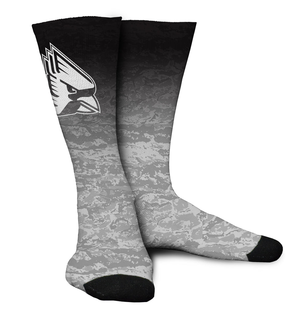 Ball State Digital Camo Sub Socks Black