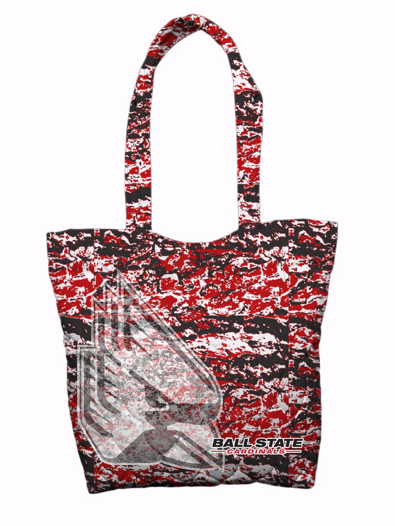 Ball State Grunge Camo Tote Bag