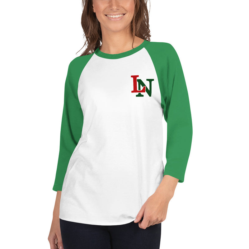 LN 3/4 sleeve raglan shirt