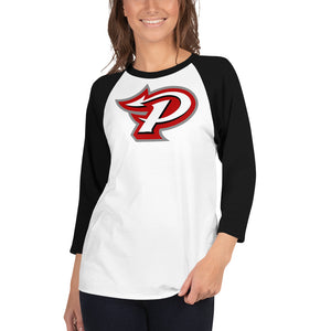 Pike 3/4 sleeve raglan shirt