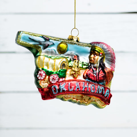 "180 Degrees ""Oklahoma"" Christmas Ornament"