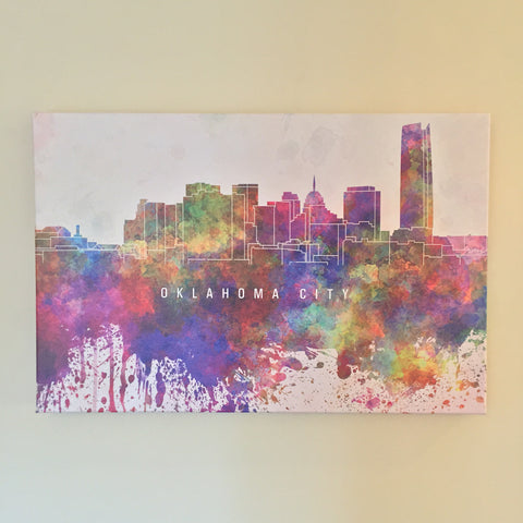 """Oklahoma City"" Canvas Art"