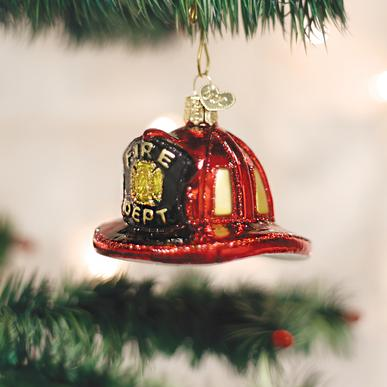 "Old World Christmas ""Fireman's Hat"" Ornament"