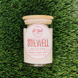 Stilwell, Oklahoma is said to have once had 2,000 acres dedicated to the growth of the sweetest strawberries on earth.  Enjoy this 12 ounce premium wax candle in honor of the Stilwell, Oklahoma -- made with notes of strawberry, bubbles and vanilla.