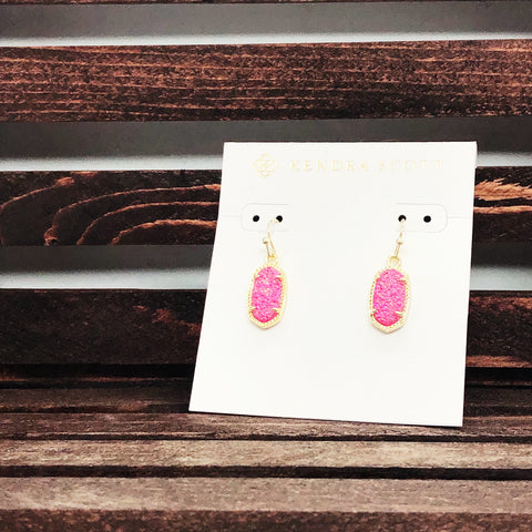 Kendra Scott Pink Stone Earrings