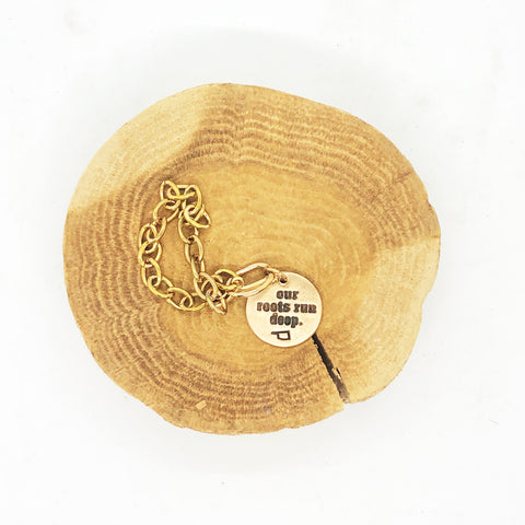Chickeeboom Our Roots Run Deep Small Bracelet