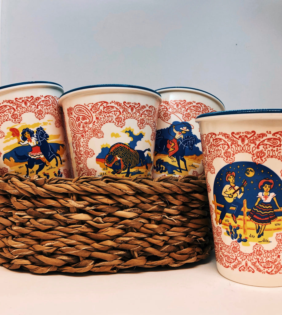 180 Degrees - Western Cups Set of 4