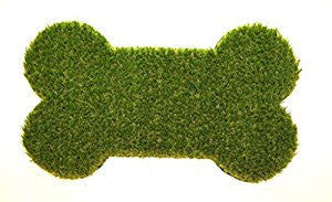 Dog Bone Shaped Grass Doormat