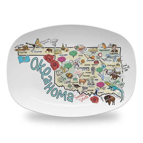 Fish Kiss Oklahoma Map Platter