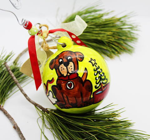 Glory Dog Ball Ornament