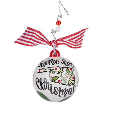 "Glory Haus Oklahoma ""Home for Christmas"" Ball  Ornament"