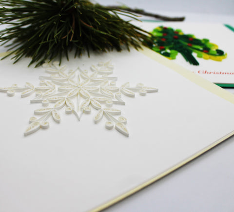 Quilling Card Christmas / Holiday Individual Cards