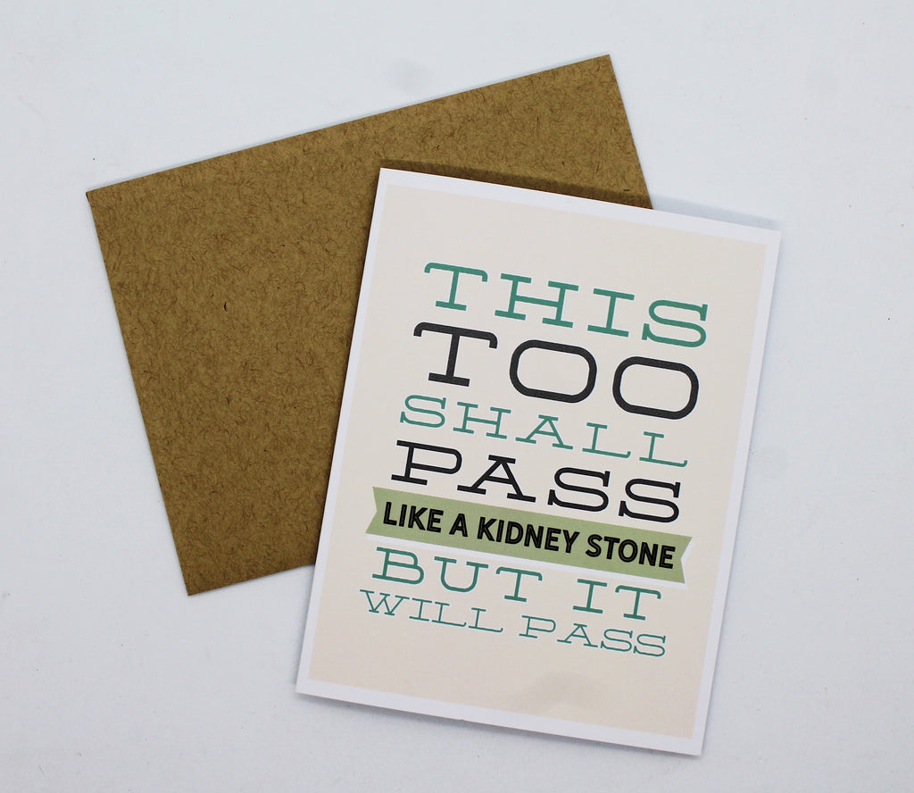 "Tiramisu Paperie Cards ""This Too Shall Pass"" Greeting Card"