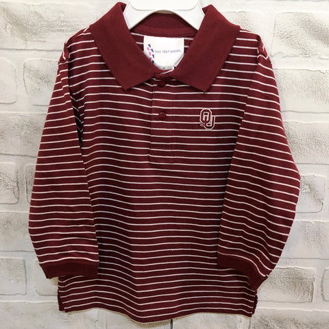 OU Long Sleeve Golf Shirt - Toddler