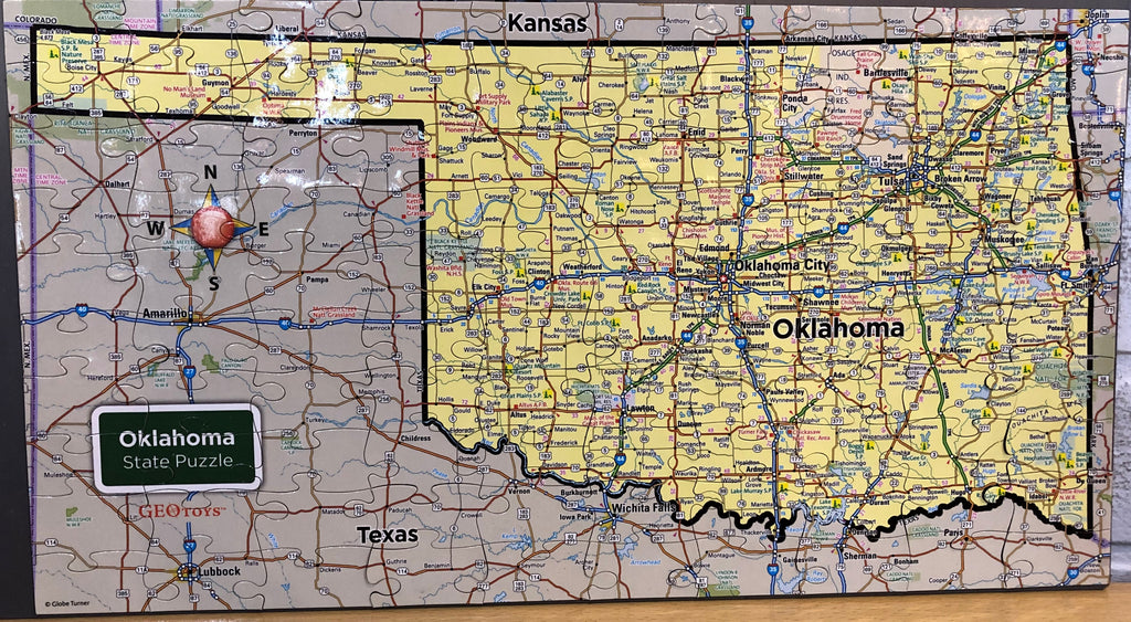 Oklahoma Magnetic Puzzle