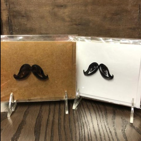 T&T Quilling Card - Mustache Down