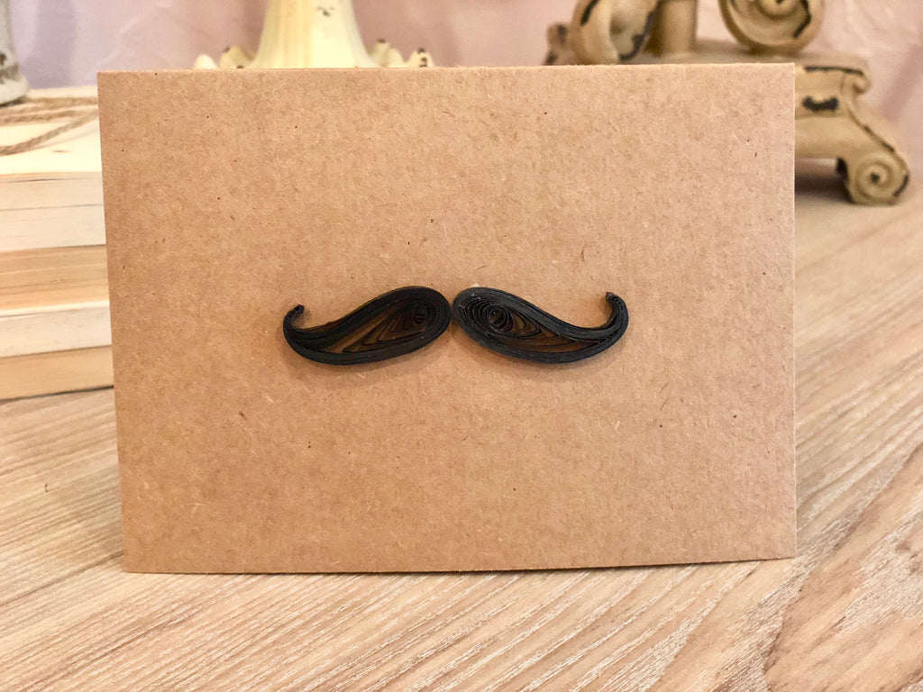 T&T Quilling Card - Mustache UP