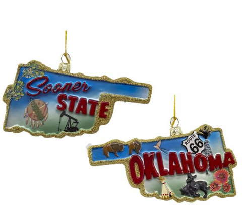 "Noble Gems ""Oklahoma - Sooner State"" Ornament"